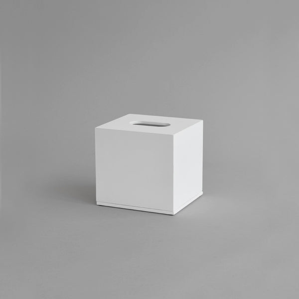 Square Tissue Box, White