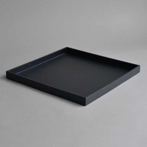 Lacquer Large Square Serving Tray, Matt Matte Black - Nom Living