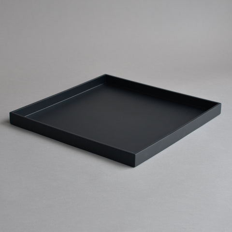 Large Square Serving Tray, Matt Black