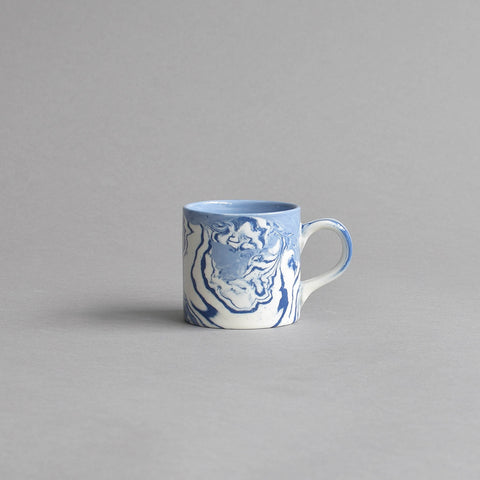 Coffee Cup, Blue & White