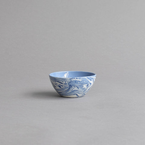 Condiment Bowl, Blue & White