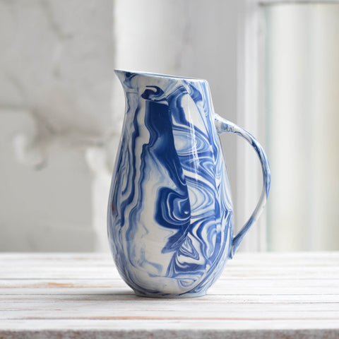 Water Jug, Blue & White