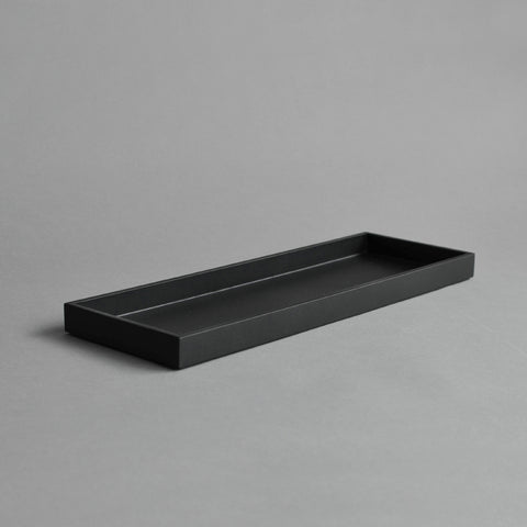 Narrow Tray, Large Matt Black