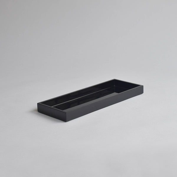 Narrow Kitchen Bathroom Tray, Black - Nom Living