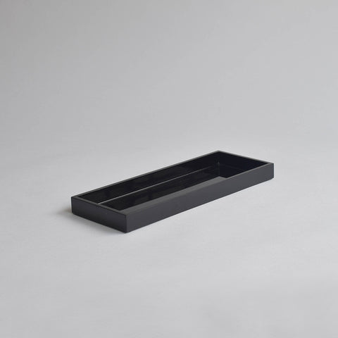 Narrow Tray, Medium Black