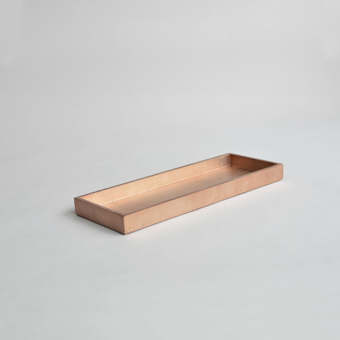 Narrow Tray, Medium Matt Rose Gold