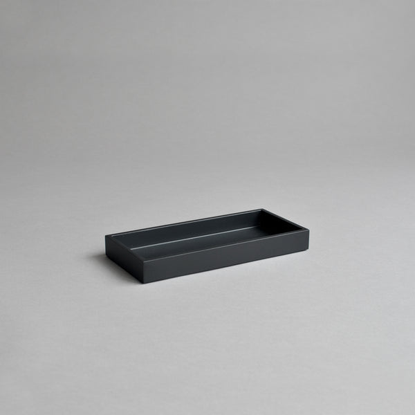 Narrow Kitchen Bathroom Tray, Matt Black - Nom Living