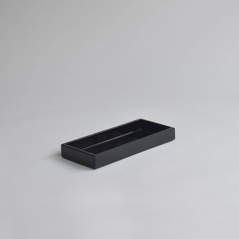Narrow Tray, Small Black