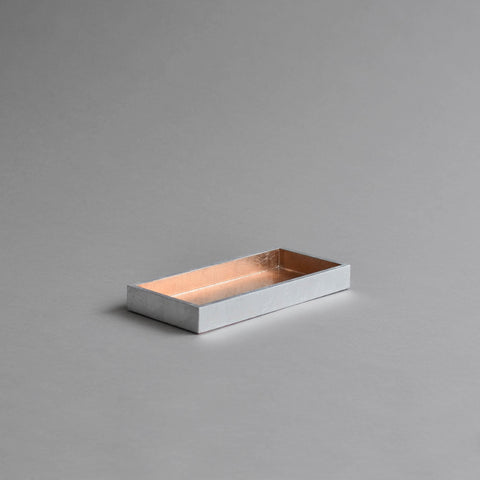 Narrow Tray, Small Rose Gold & Silver
