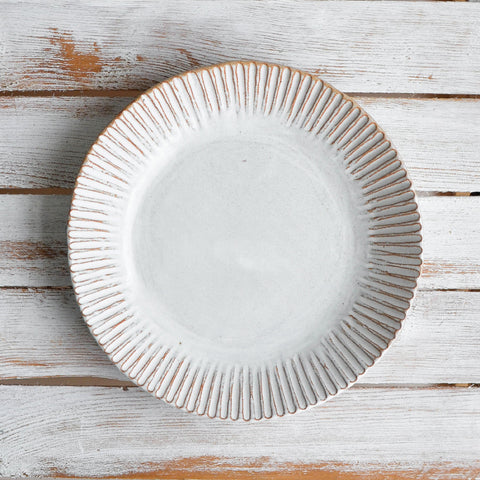 Organic Fluted Serving Plate
