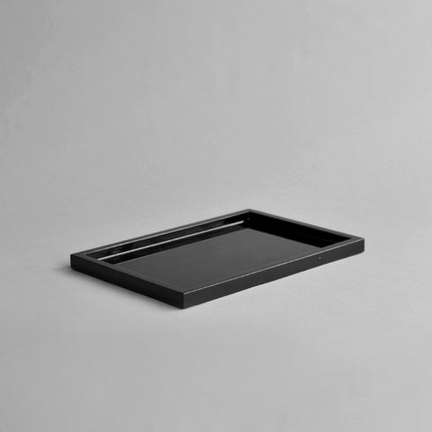 Small Rectangular Canape Tray, Black