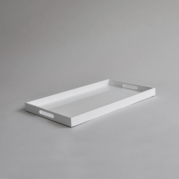 Rectangular Serving Tray, White - Nom Living
