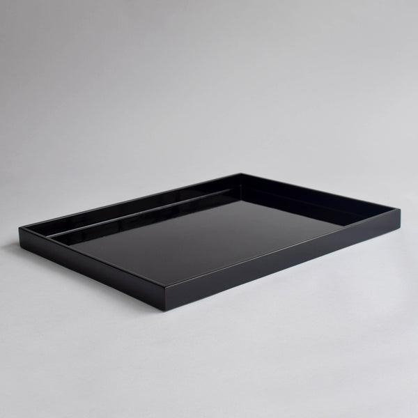 Large Rectangular Canape Tray, Shiny Black