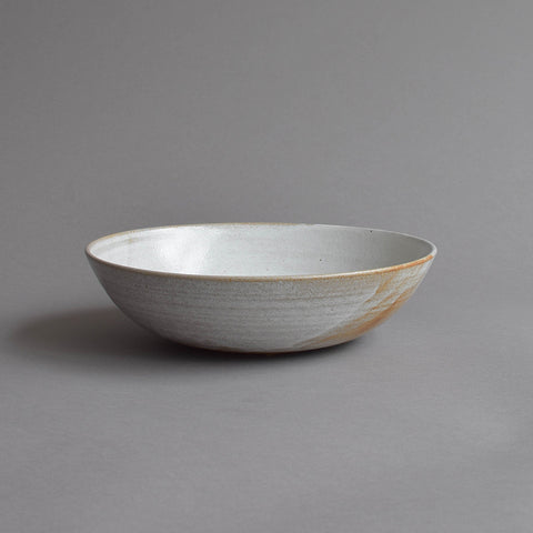 Hand Thrown Serving Bowl, Thin White
