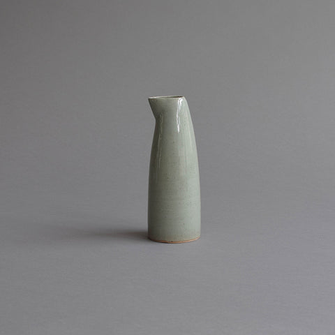 Sake Pouring Jug, Small Celadon Grey
