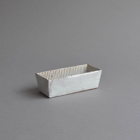 Rectangular Fluted Loaf Mould, Small Snow White