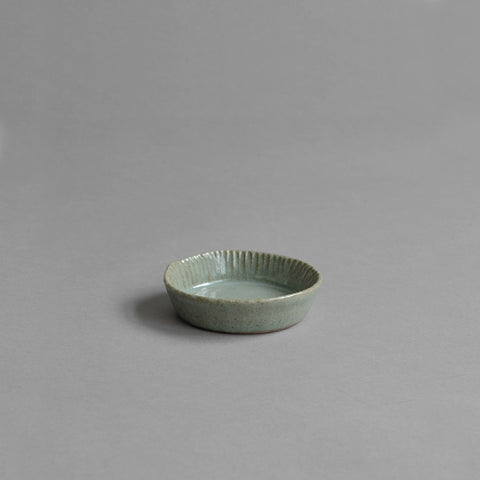 Fluted Tartlet Mould, Celadon Grey