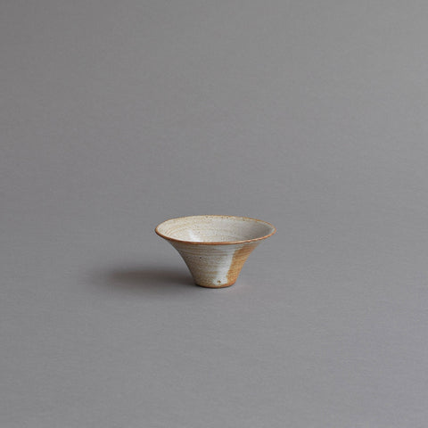 Small Dip Bowl, Snow White Thin