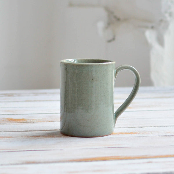 Stoneware Tea Mug, Snow White Celadon Grey - Nom Living
