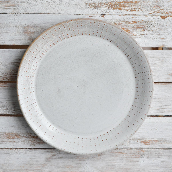 Nom Living Stoneware Urchin Dinner Plate, Snow White Thin