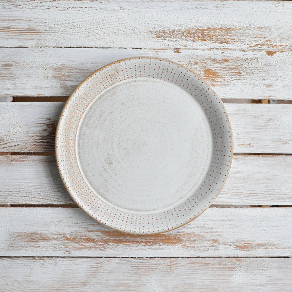 Nom Living Rustic Stoneware Urchin Side Plate, Snow White Thin