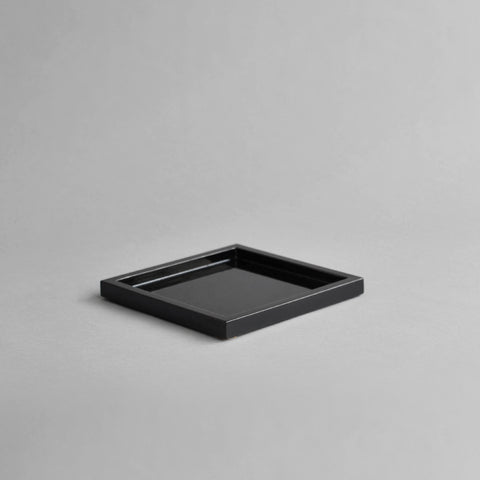 Small Square Canape Tray, Black