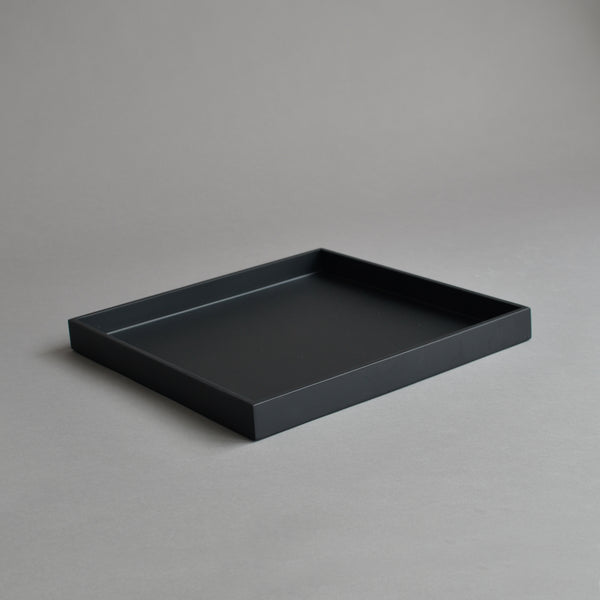 Square Serving Tray, Matt Black