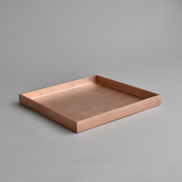 Square Serving Tray, Matt Rose Gold
