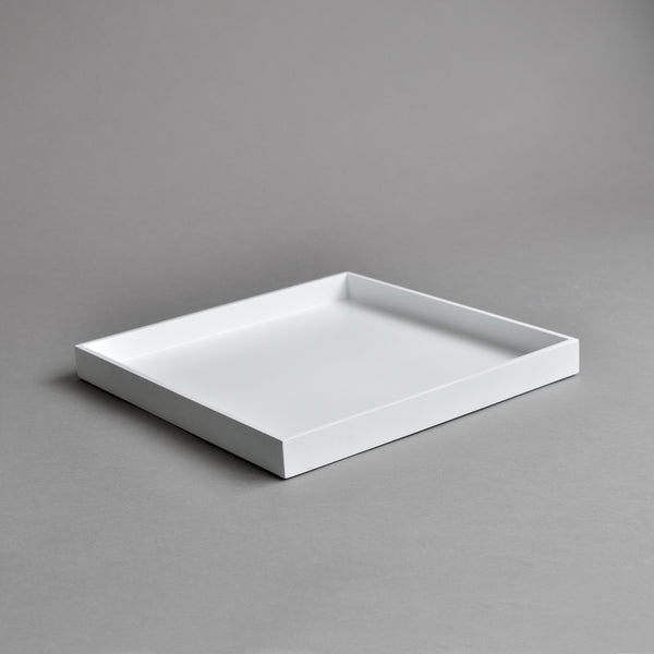 Square Serving Tray, Matt White