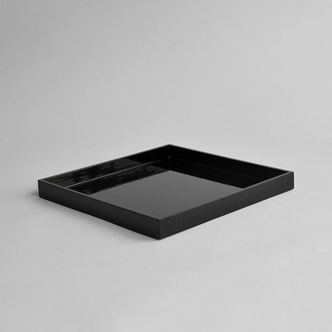 Square Serving Tray, Black