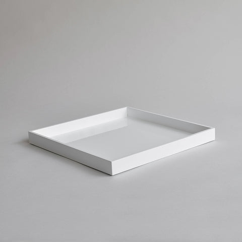 Square Serving Tray, White