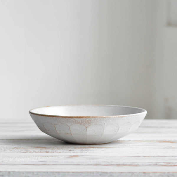 Stoneware ceramic Facet Collection, Pasta Bowl, Snow White - Nom Living