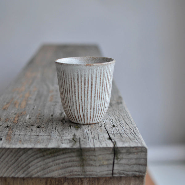Nom Living Stoneware Fluted Forest Beaker Drinks Tumbler Cup