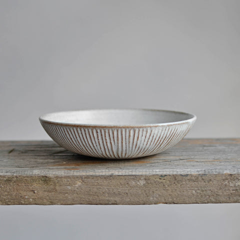 Fluted Forest Pasta Bowl