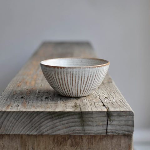 Fluted Forest Deep Round Bowl