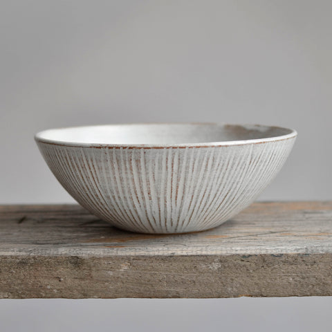 Fluted Forest Soup Bowl