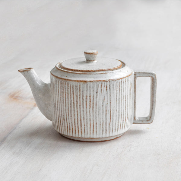 Nom Living Fluted Forest Stoneware Teapot, 800 ml, Tea ware