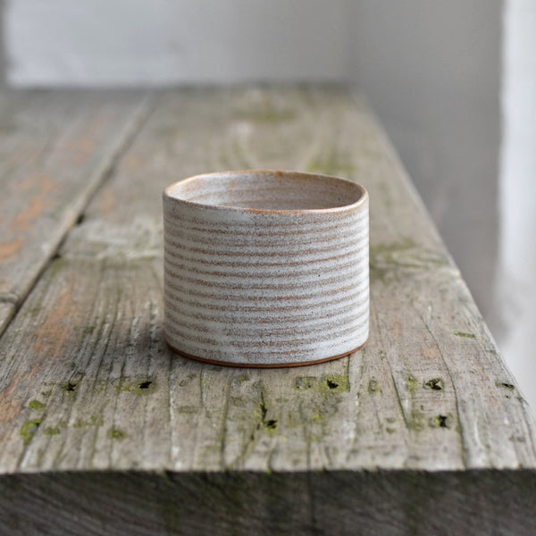 Hand Thrown Stoneware Ramekin Dish, Snow White Thin - Nom Living
