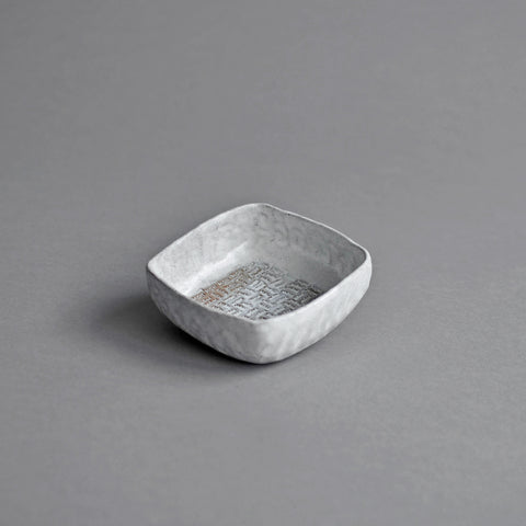 Small Rustic Square Bowl - Nom Logo