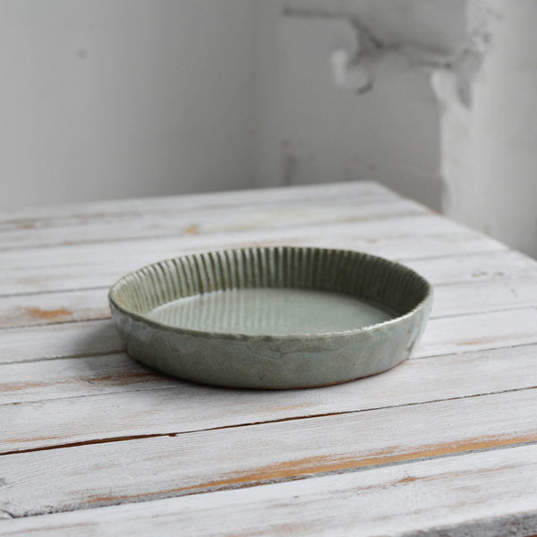 Fluted Quiche Mould, Celadon Grey - Nom Living