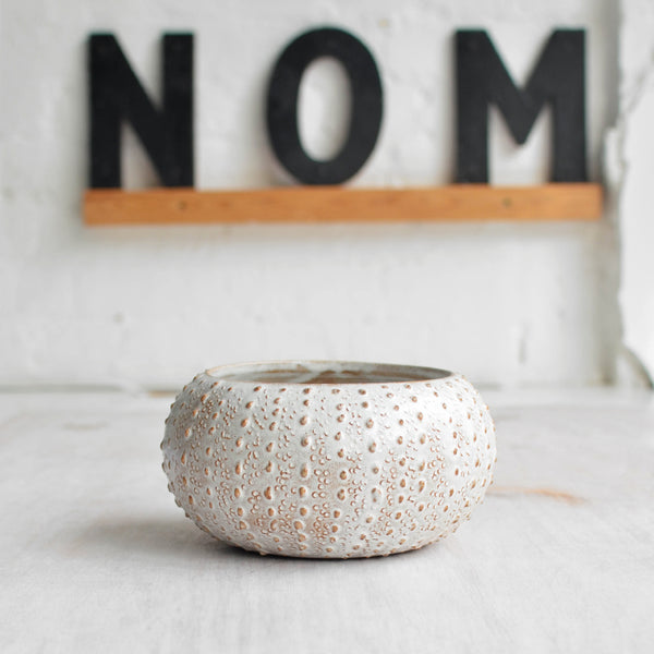 Stoneware Urchin Bowl Large Snow White Thin - Nom Living
