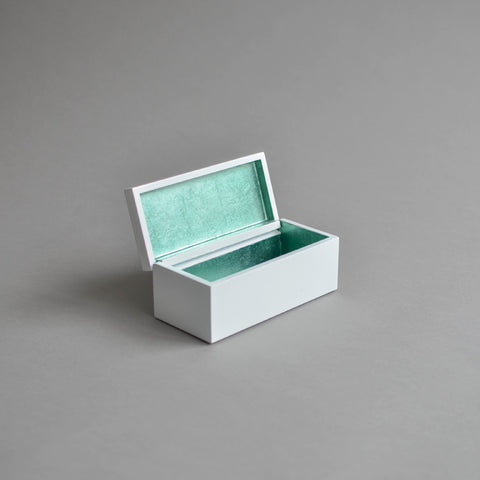 Vanity Box Hinged, Duck Egg  & White