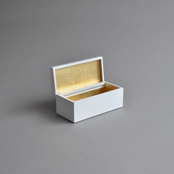 Vanity Box Hinged, Pale Gold & White - Nom Living