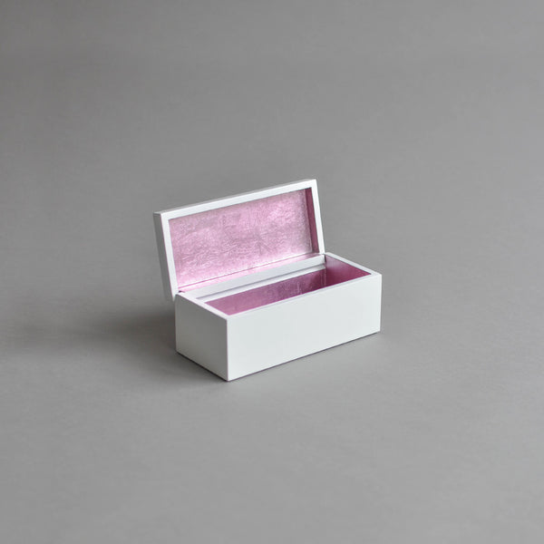 Vanity Box Hinged, Pastel Pink & White - Nom Living