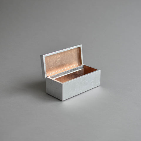Vanity Box Hinged, Rose Gold & Silver