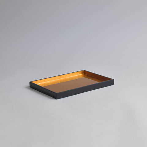 Vanity Tray, Gold & Black