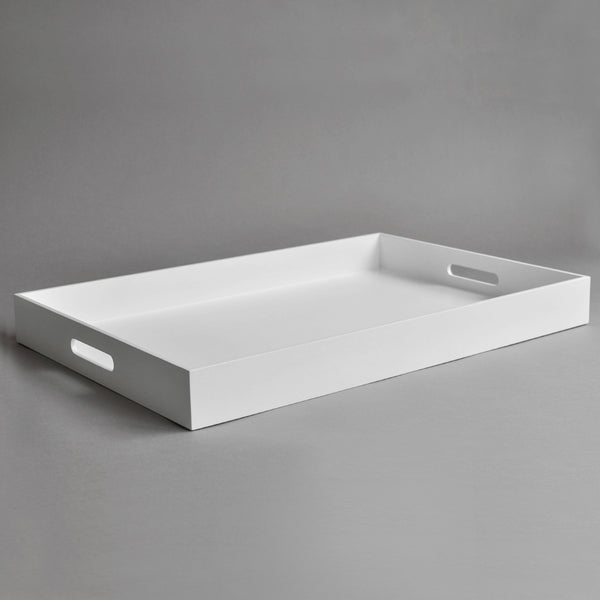 XL Rectangular Breakfast Tray, Matt White - Nom Living