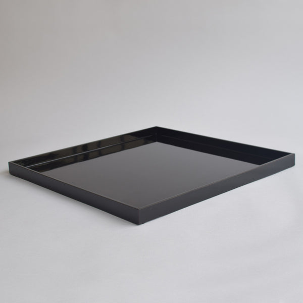 XL Square Serving or Ottoman Tray - Black - Nom Living