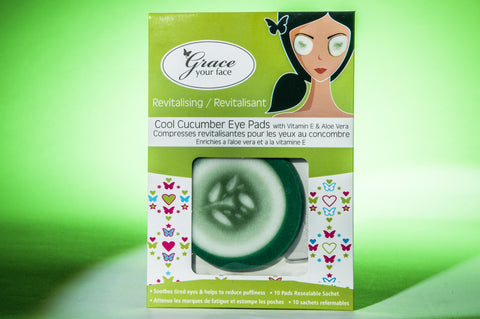Grace Your Face - Cool Cucumber Eye Pads - Amirose London