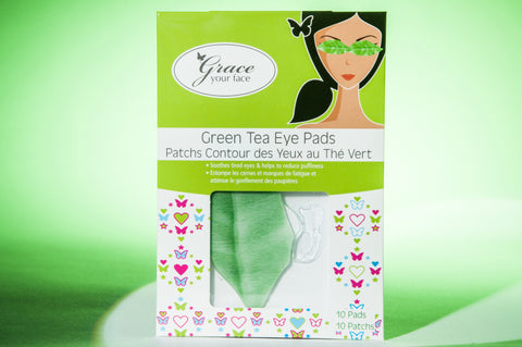 Grace Your Face - Green Tea Eye Pads - Amirose London